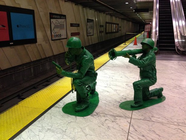 Plastic army men. (Yes, those are real people!). All photo credits go to BritishRacingGreen 2013.