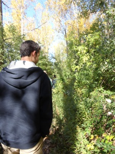 Will and I out on the sunny trails. © Maria Legault 2012.