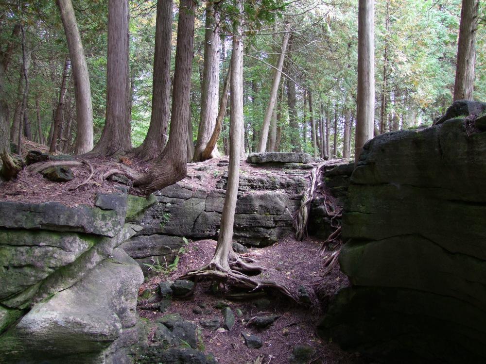 A cul-de-sac of rock.