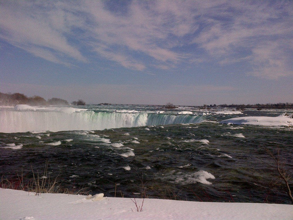 Looking out over the top of the Falls.