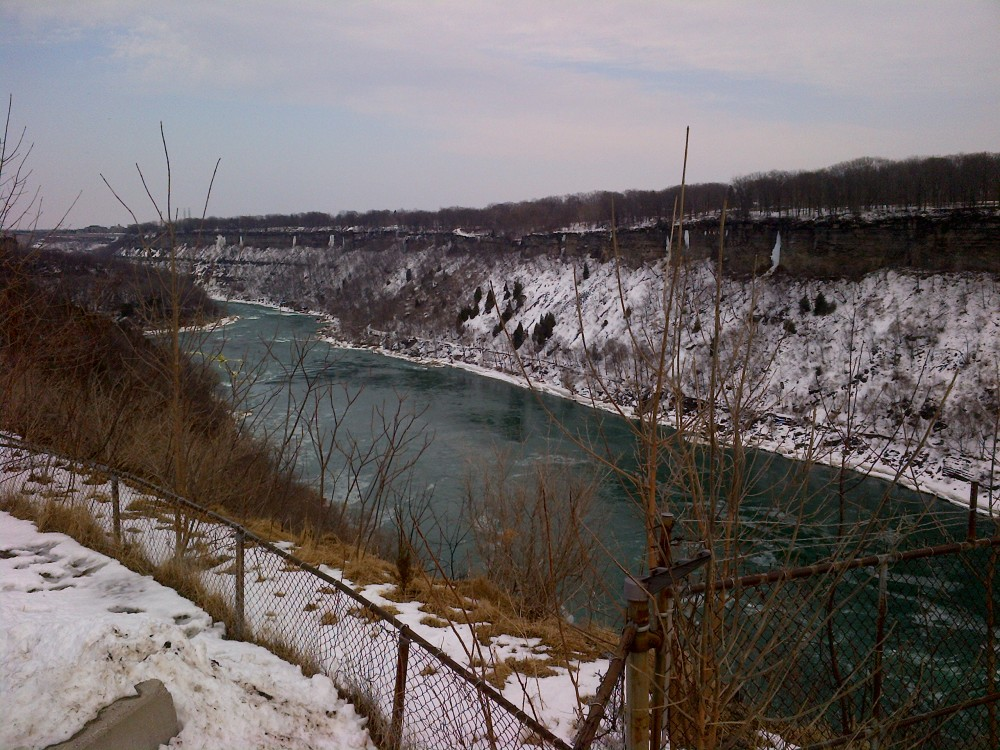 Looking out from the vantage point near the Niagara Whirpool.