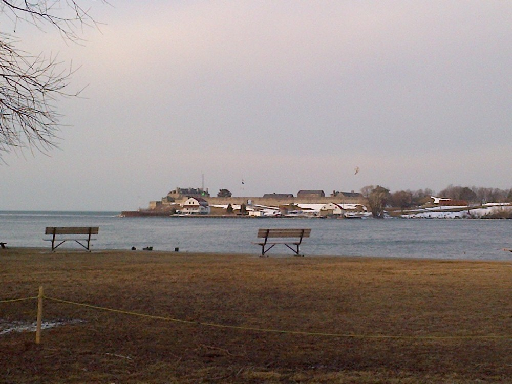 Looking out from the shores of Niagara-on-the-Lake.
