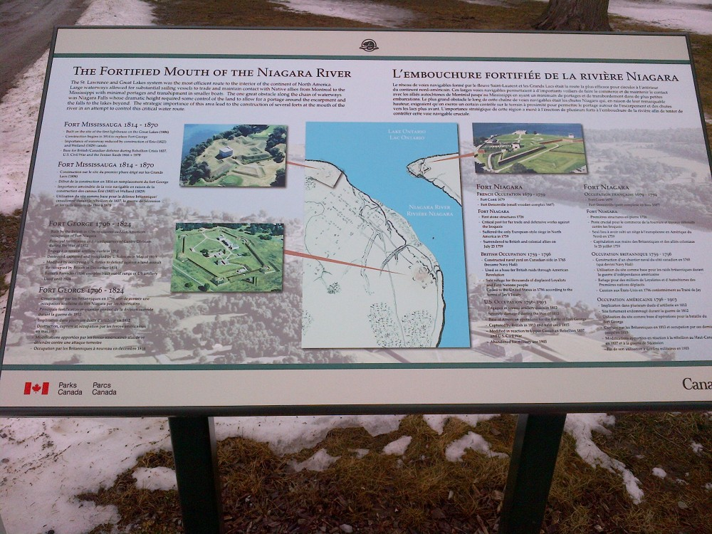 Sign in Fort George.