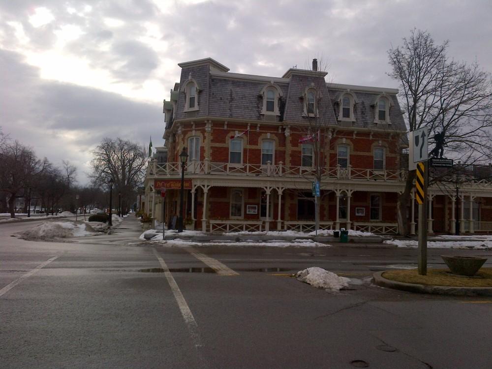 On the main street of Niagara-on-the-Lake.