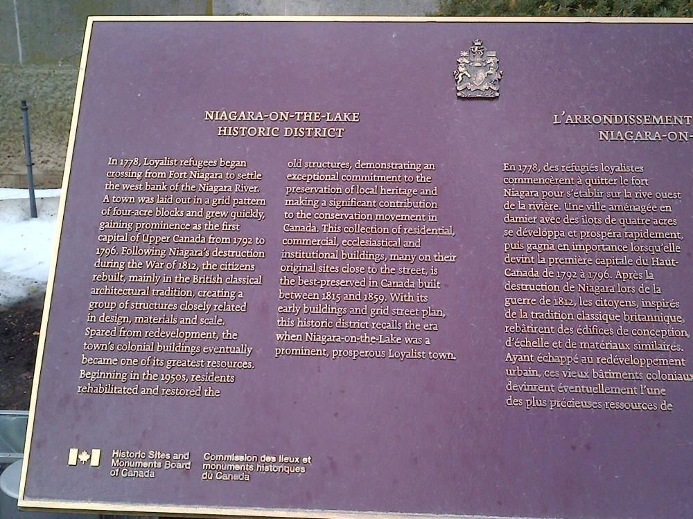 A historical plaque.