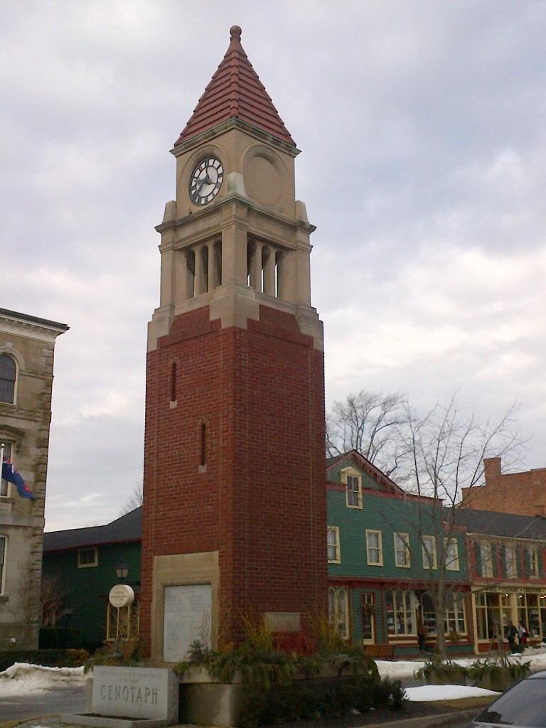 The cenotaph along the main street.