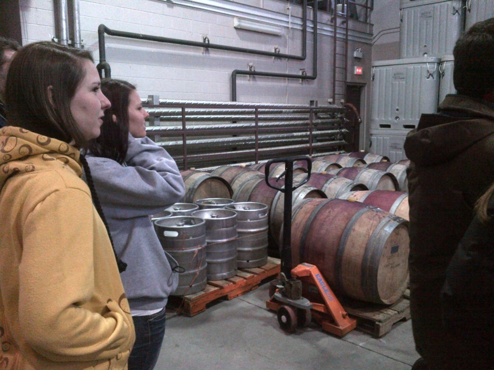 On our wine production tour.