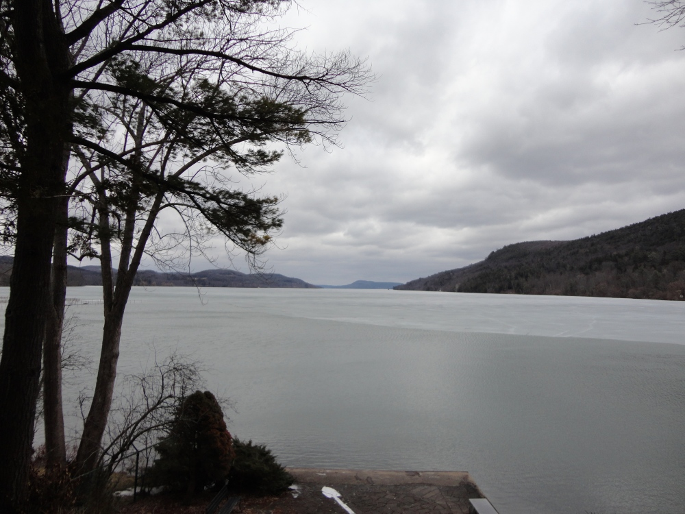 Looking out over Otsego Lake.