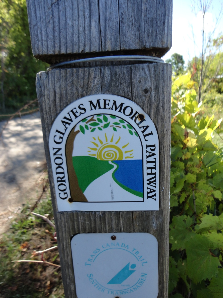 Signs and posts mark the other trails connected to the GVT.