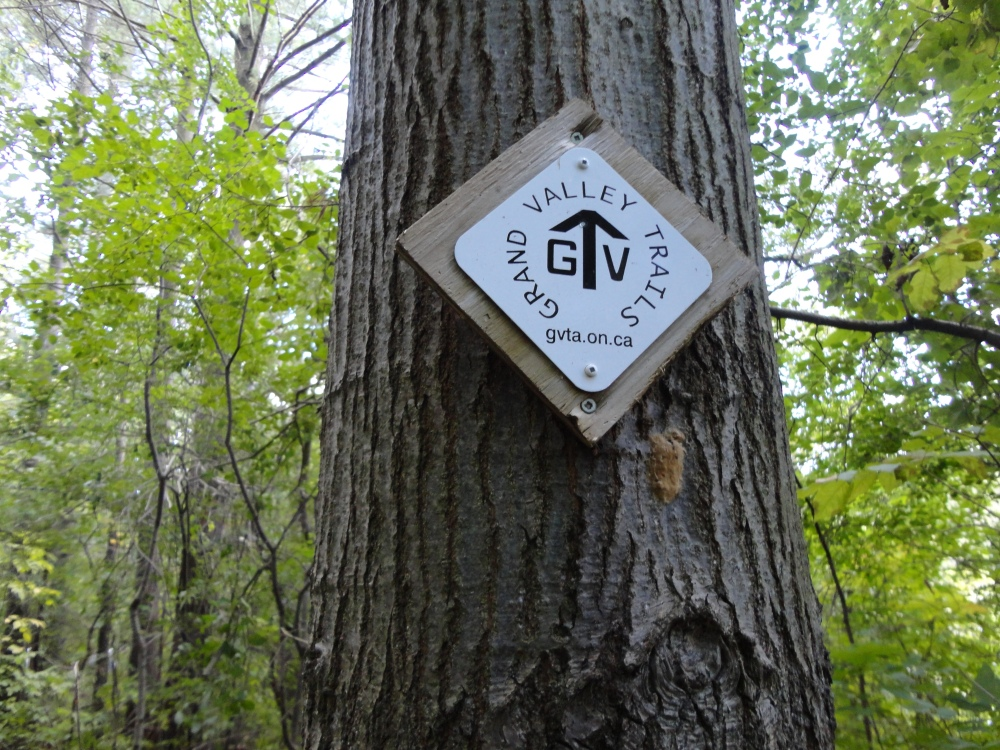 Signs also mark the path of the GVT in some spots.