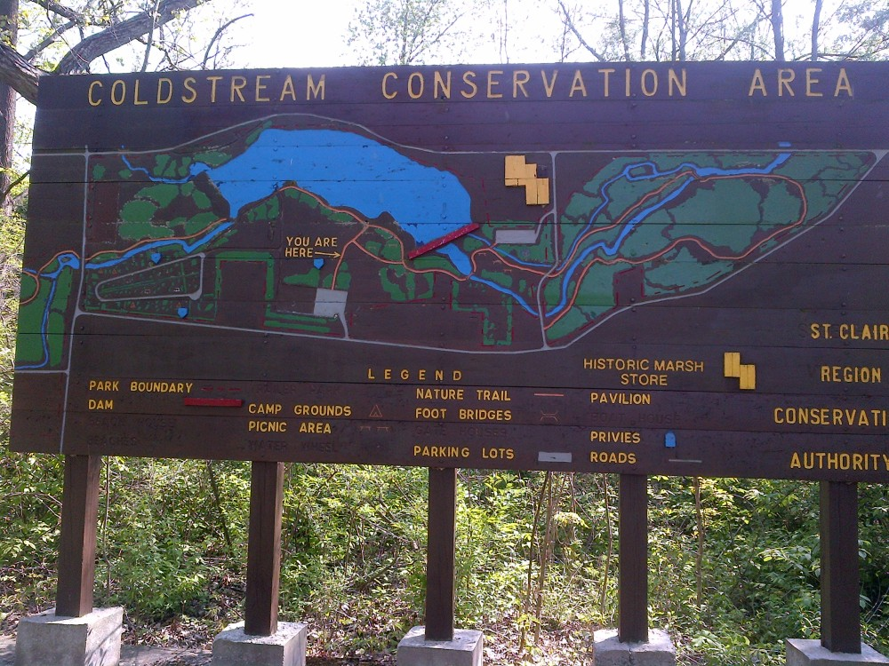 A map of the conservation area.