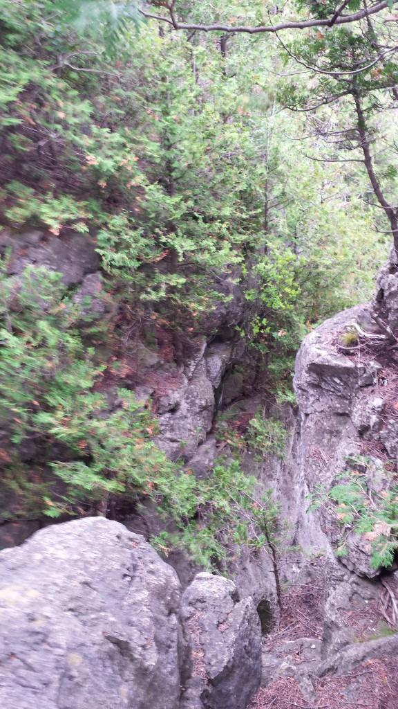 Looking down gives you vertigo!
