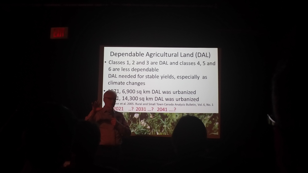 Listening to some fascinating ideas from this lecture on food sustainability.