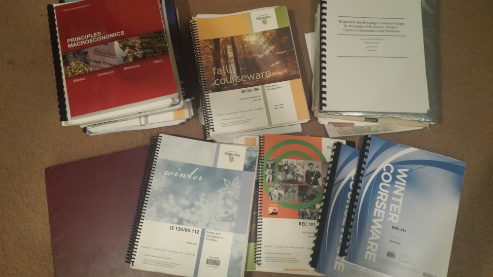 Thousands of dollars worth of university education, saved up over the years.