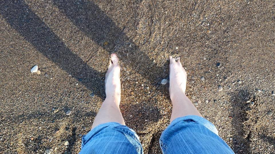 Feet in the sand!