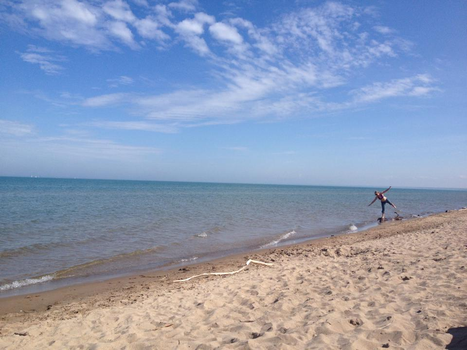 Beaches, reached by bicycle in Pinery Provincial Park.