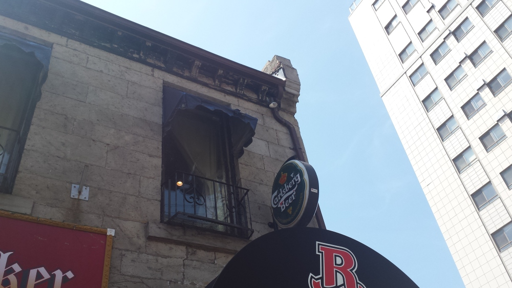 The restaurant building has a fascinating history, and architecture!