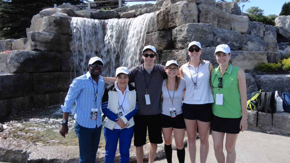 The survey team on-site at the 2015 Manulife Classic.