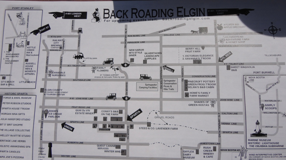There are many potential stops along your trip to the back roads of Elgin County!